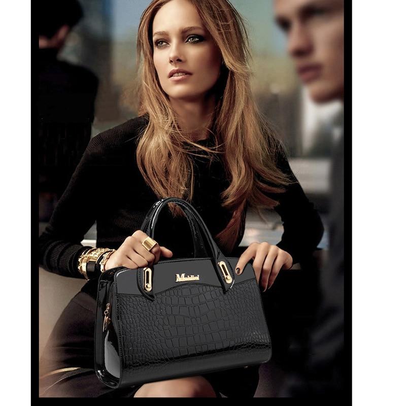 Fashion 3PCS/Set Women Handbag Composite Bag Handbag Women's Shoulder Bag Luxury Designer Female Stone pattern Messenger Bags-in Shoulder Bags from Luggage & Bags    2