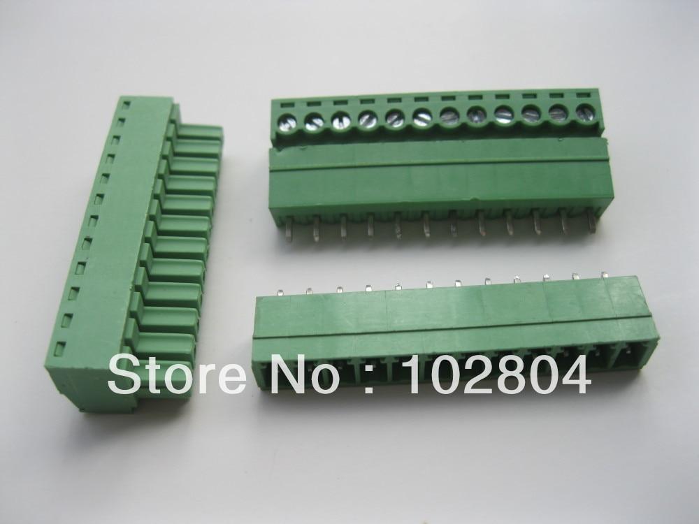 12 шт. в партии Клеммная колодка Разъем 3.5 мм 12 способ/pin Зеленый вставные Тип высокого качества Лидер продаж распродажа