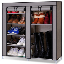 Simple shoe footwear cabinet with double multilayer woven storage Dust Covers large capacity boots paragraph