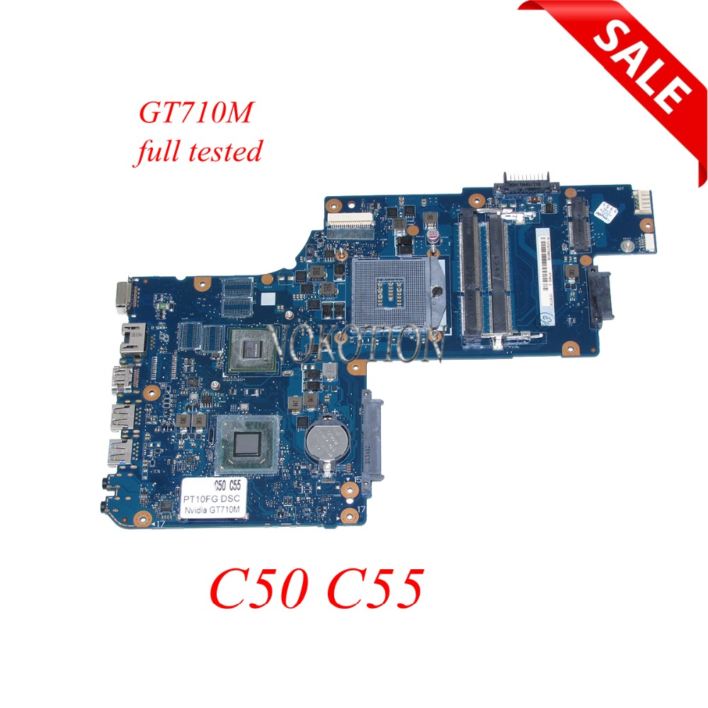 H000061960 PT10FG DSC MB H000062020 laptop motherboard For Toshiba Satellite C50 C55 15.6'' GT710M HD4000 DDR3 HM76 Main board