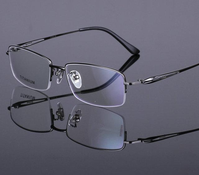 bdd8146d167 2016 100% pure Titanium Brand Silhouette Glasses Frame Eyeglasses Men women  Original Case Oculos de grau free shipping