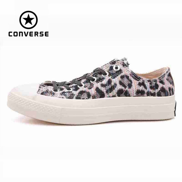 1a328a1addf6 Original Converse all star men s leopard print sneakers canvas shoes for men  low classic Skateboarding Shoes free shipping