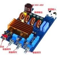 Tpa3255 2.1 300 w + 150 150 1000 uf/80 v classe d de alta fidelidade amplificador potência digital placa terminada