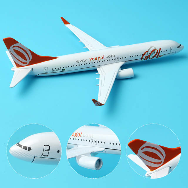 US $9 91 30% OFF|16cm Brazil GOL Boeing 737 800 Airplane Model TAM Boeing  777 Aircraft Aviation Model GOL Aircraft Airbus Model Stand Craft 1:250-in