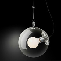 25CM Classic Contemporary And Contracted Fashion Transparent Dragon Ball Glass Bubble Absorb Dome Light