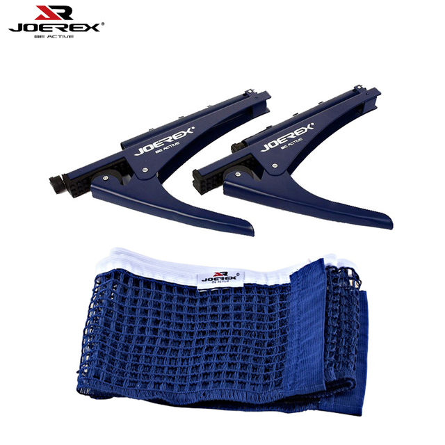 JOEREX Portable Table Tennis Net Clamp Stand Set Ping Pong Replacement Mesh  Standard Ping Pong Table