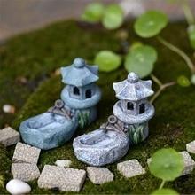 1pcs Vintage Artificial Pool Tower Miniature Fairy Garden Home Decoration Mini Craft Micro Landscaping Decor DIY Accessories