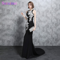 Real Photo Black Prom Dresses White Applique Off The Shoulder Sheer Illusion Back See Through Mermaid Sexy Prom Gown