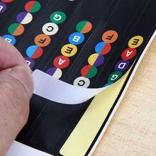 Professzionális Gyakorlati Gitár Fretboard Note Stickers Scale Strip Decal Labal A kezdő tanuló Trainning Learning