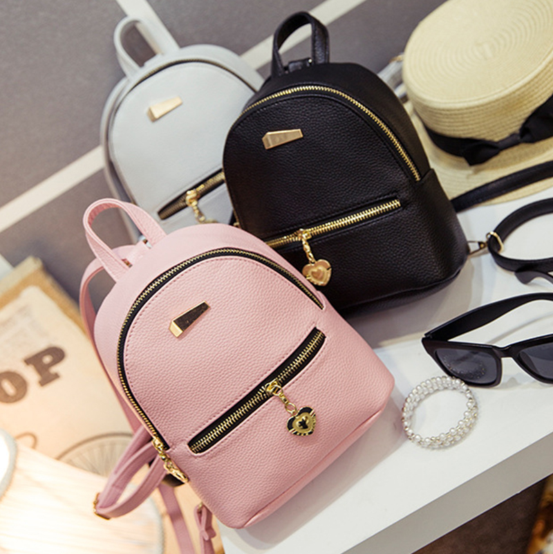 New Shoulder Bag Mini Backpacks Women Leather school bag women's ...