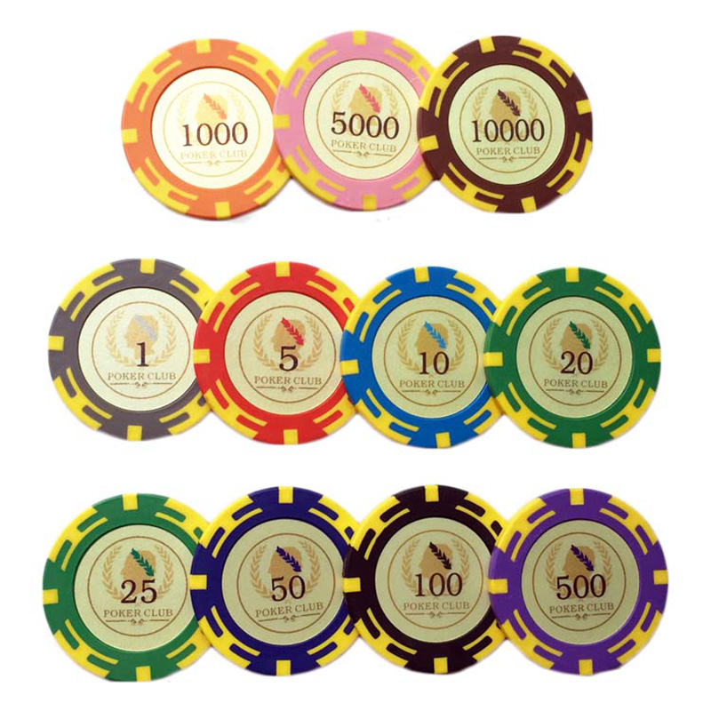 20 PCS/LOT Optical Maser Poker Chips 11.5g Clay+Iron+ABS Plastic Chips Texas Holdem Poker Wholesale For Club Free Shipping