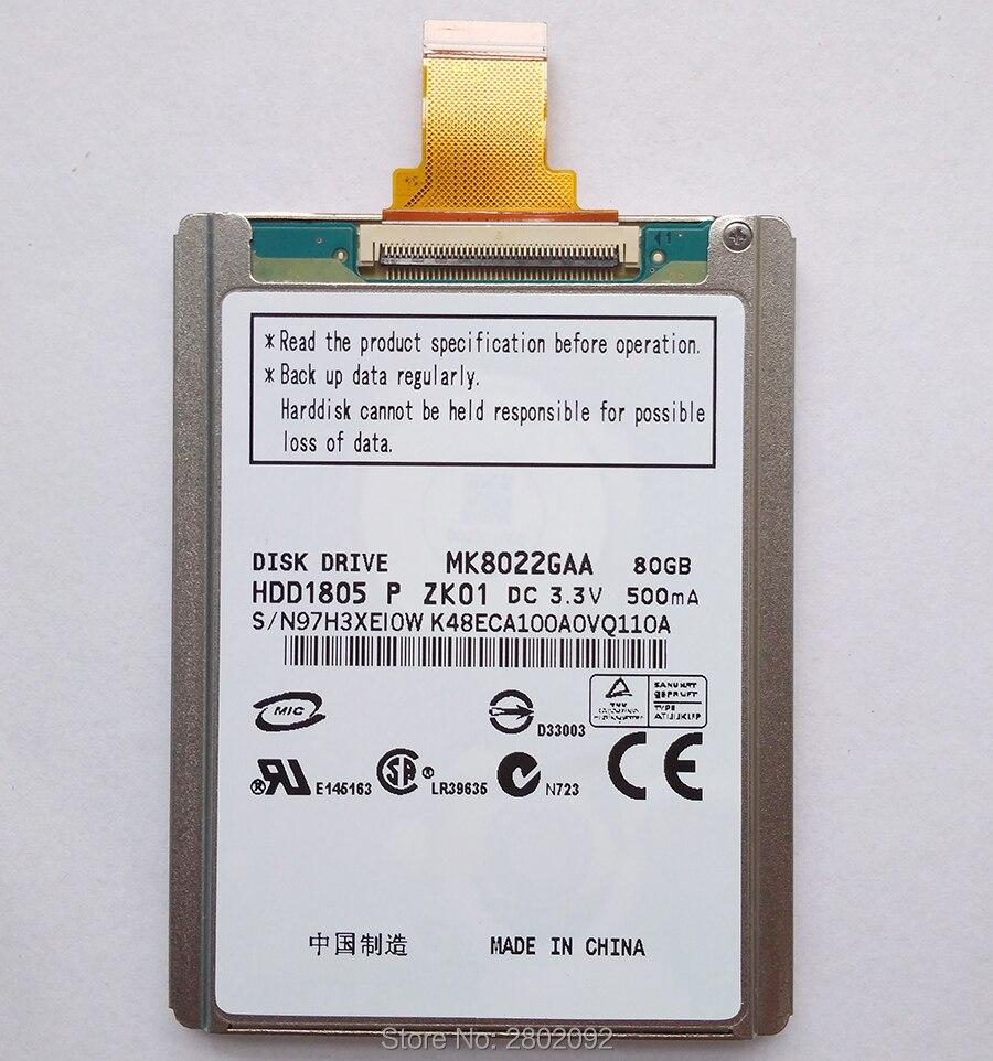 Nouveau MK8022gaa 1.8 pouces disque dur et interface de câble de disque dur ce ZIF 80 Gb utilisé par IPOD CLASSIC remplacer hs081ha mk1231gal