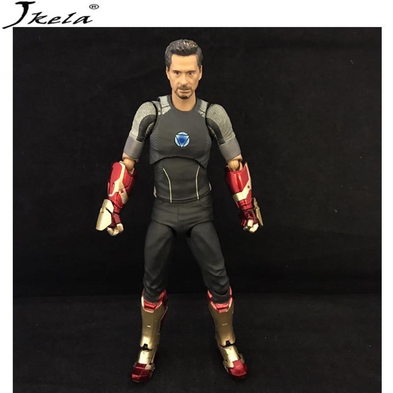 [Jkela] 2018 marvelING Avengers Infinity War Super Heroes Variant Tony Iron Man Model PVC Figure Toy 17cm LegoINGly