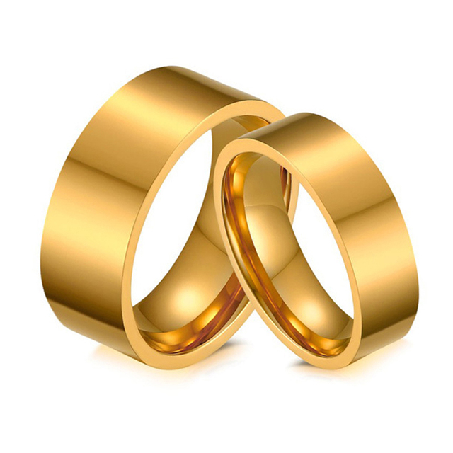 Gold Color Him and Hers Best Engagement Rings Matching Wedding