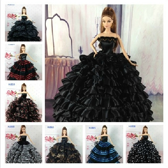 1Piece Shipping Retail Dolls Fashionable Classic Black Color Series ...