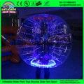 Tocador de la burbuja al por mayor bola de/LED de la burbuja de fútbol, bola de parachoques en alquiler, golpe de la bola inflable