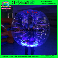 Wholesale bubble knocker ball/ LED bubble soccer ,bumper ball rent, inflatable knock ball