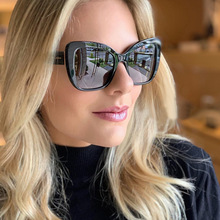 PAWXFB Hot Selling Cat Eye Ladies Gradient Lens Sunglasses Big Frame UV400 Women Fashion