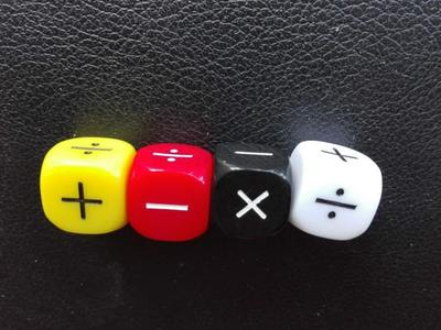 4Pcs/set New Addition And Subtraction Symbol Dice Operation Baby Teaching Assistant Props 16mm Multiplication And Division Dices