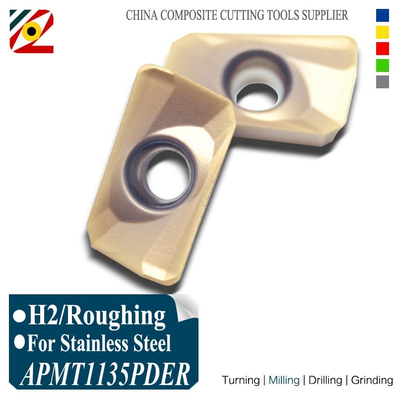 EDGEV APMT1135PDER H2 EP6350 Frezen Carbide Inserts Indexeerbare End Mill Cutter CNC Machine Gebruikt voor BAP300R