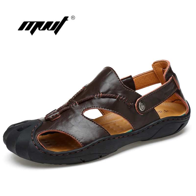 High Quality Men Sandals Genuine Leather Summer Shoes Men Slippers Casual Beach Shoes Nonslip Sandalias