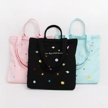цена на Korean edition Embroidery Flower original cloth bag wholesale single shoulder canvas handbag women's bag handbag