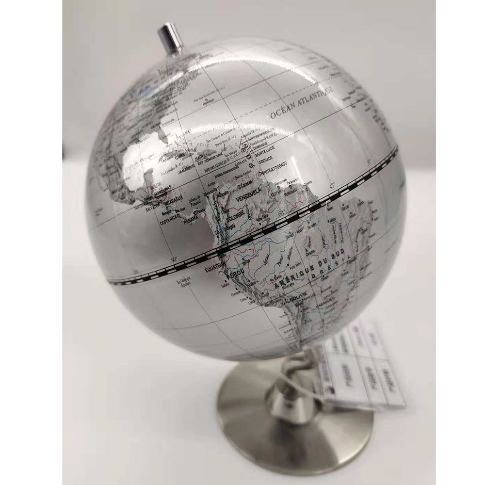 Diameter 140mm Globe With Metal Stand Home Office Decoration