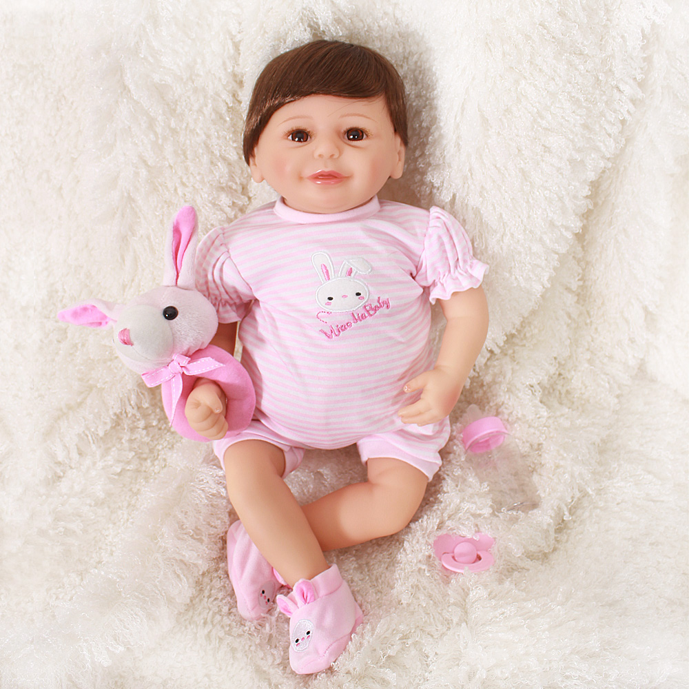 Baby Dolls Vip Us 79 2 20 Off Bebes Reborn Doll 50cm Baby Girl Dolls Soft Silicone Boneca Reborn Brinquedos Bonecas Children S Day Gifts Toys Bed Time Plamate In