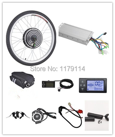 "Free shipping LCD display 48v1000w e-bike FRONT kit , electric bike conversion kit,e-bike kit for 20"" 24"" 26"" 700C 28"" 29"""