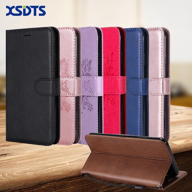 XSDTS Wallet Leather Flip Case For Samsung Galaxy J2 Pro J4 Core J6 Plus Prime 2018 SM-J260F J260 Phone Case Cover Coque