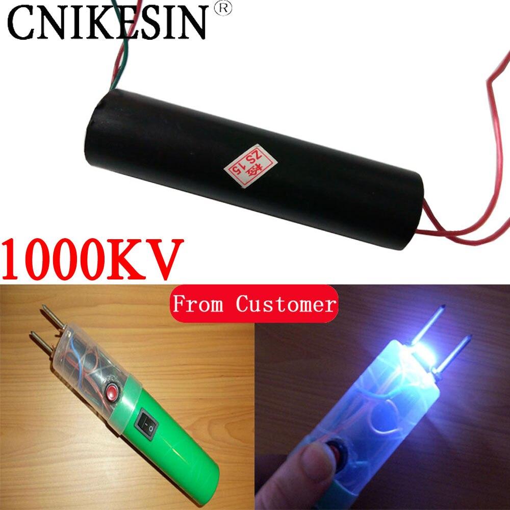 CNIKESIN DC3-6V супер дуги 1000KV высокое Напряжение генератор, Инвертор Трансформатор импульса, высокая Напряжение модуль diy электронный пакет ...