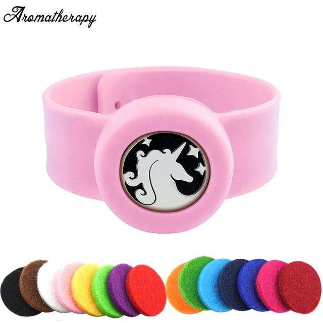 Kids Horse Diffuser Bracelet Essential Oil Slap With Stainless Steel Locket