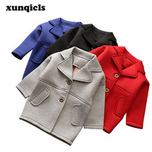 Autumn Baby Boys Long Coat Air Cotton Kids Jackets Girl Jackets Spring Children Clothes