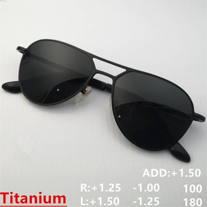 Titanium Sunglasses Eyeglasses Prescription Glasses Correction Optical Sun Glasses Myopia Hyperopia Astigmatism Progressive