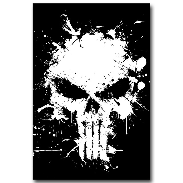 The Punisher Silk Fabric Poster