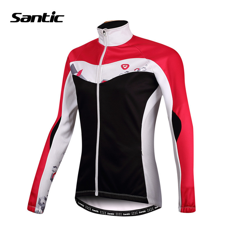 Santic Cycling Thermal Jersey Women Cycling Jersey Spring Cycling Clothing Full Sleeve Bike Bicycle Cycling Jersey LC01041 herz ig 1000