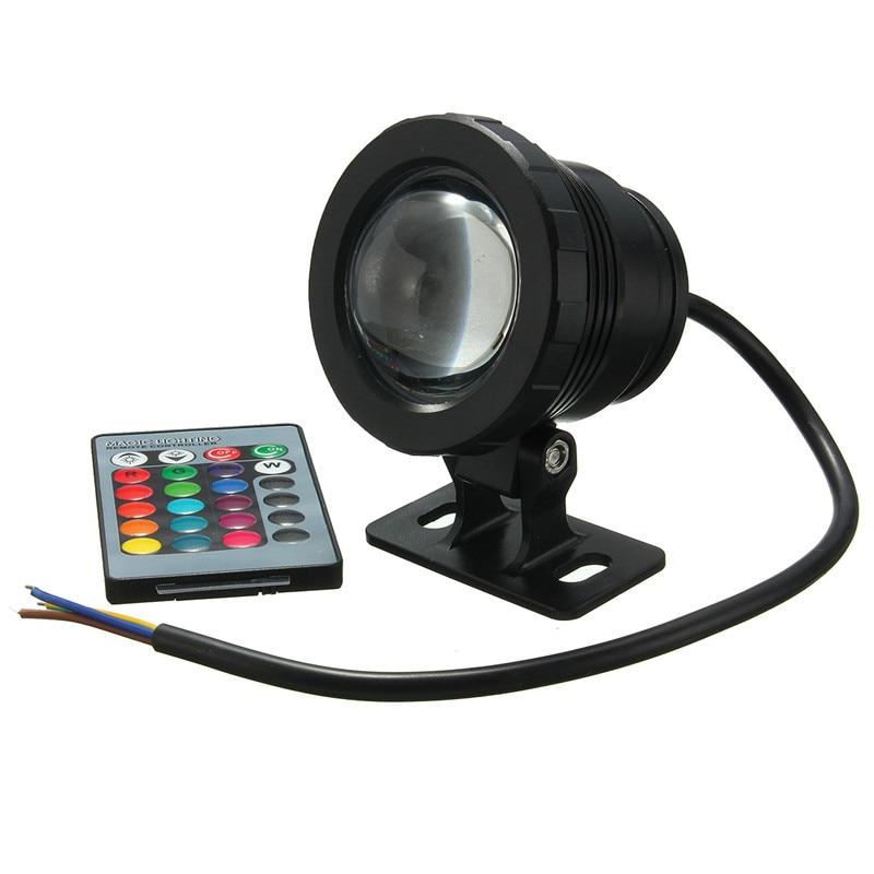 10 W RGB DEL Underwater Light Outdoor Waterproof IP68 piscine étang Fontaine