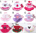 Cotton 1 set  Baby Girl Infant 3pcs Clothing Sets Suit , Tutu Romper Dress/Jumpersuit Bebe Party Birthday Kids Children's Sets