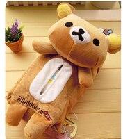 Plush Toy 1pc Cartoon Rilakkuma Relax Bear Vehicle Tissue Paper Towel Cover Decoration Children Stuffed Gift