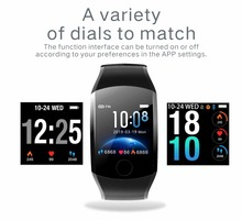Smart Bracelet Large Color Screen Intelligent Sports Continuous Heart Rate Blood Pressure Monitor Bluetooth for Iphone Xiaomi
