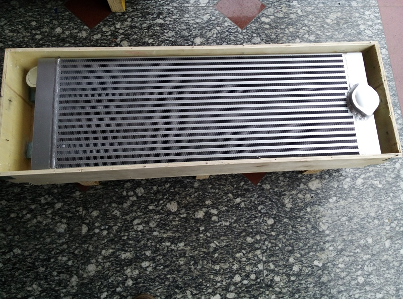 Free shipping OEM 1613830300(1613 8303 00)  silvery aluminum plate fin combined air cooler for GA18 screw air compressor