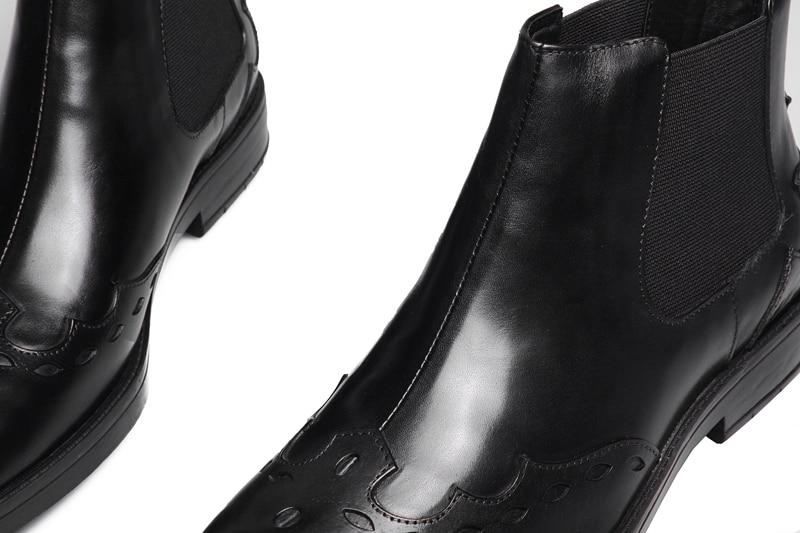 Marron formelle noir vache daffaires cuir bottes de bureau hommes
