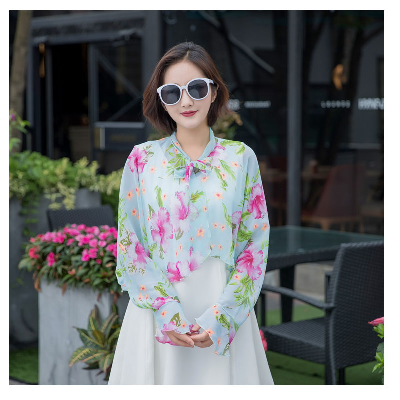 febdc6dc749 Chiffon beach scarf ponchos and capes Lotus leaf print poncho Riding Drive  car Variety Sunscreen Scarf Shawl promotion SJ125-in Scarves from Women s  ...