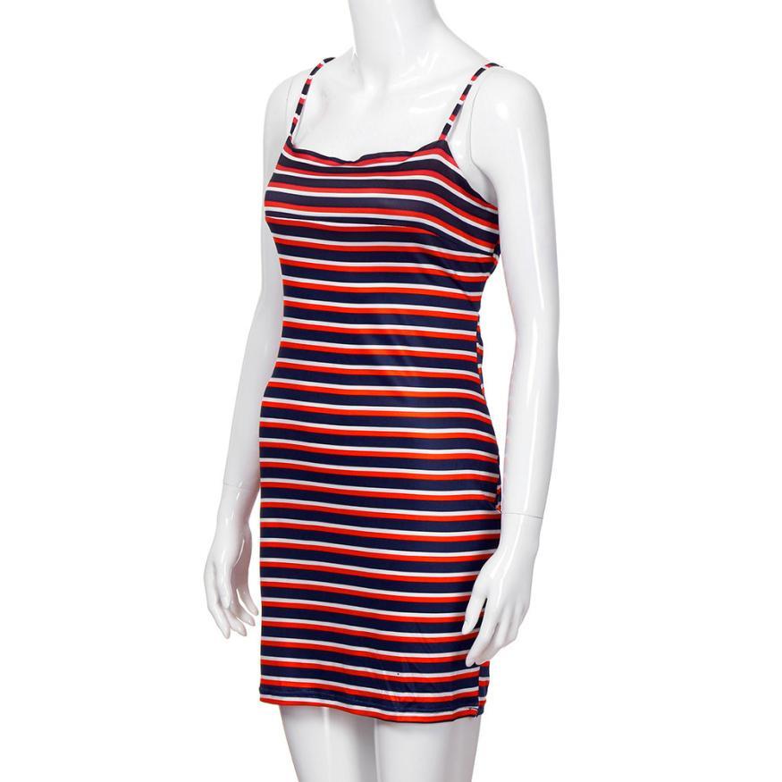 New Fashion Women drsses plus size Sxey Off Shoulder Stripe Bow Sheath Dress Ladies mini Women Dress robe longue femme 2018 #F