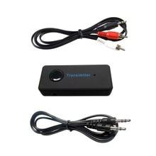 2017 Marca Inalámbrica Bluetooth 3.0 3.5mm Cable de Audio Estéreo de Música Audio Bluetooth Transmisor Receptor transmisor Adaptador para TV