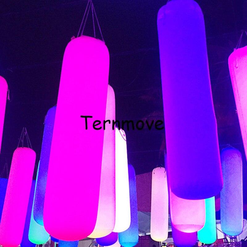 Columna tubo de PVC que brilla en la oscuridad para Bodas de negocios inflable Pilar LED tubo de aire de juguete de luz para colgar en el techo fiesta de eventos