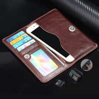 100 Genuine Leather Phone Bag Universal 3 5 5 7 For Samsung S4 S5 S6 S7