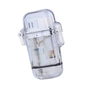 Image 5 - Briquet Portable étanche pour lextérieur, Jet Butane, Turbo, feu 1300 C, tuyau coupe vent, tuyau de Camping, sans gaz