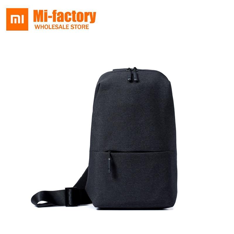 Original Xiaomi Mi Backpack Sling Bag Leisure Sports Chest Pack Bags For Unisex Men Women Small Size 4L Rucksack Controls original xiaomi 3 colors baseball mi cap unisex popular design sweat absorption reflective snapback hip hop for men and women
