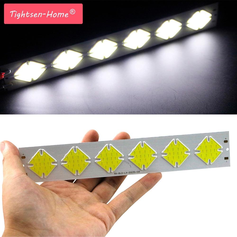 10w 202x35mm Dc 12v Led Cob Thin Bar Strip Drl Chip Lamp Light Cold White Cob For Car Drl Bulb Cob Led Strip Chip Diy Lighting